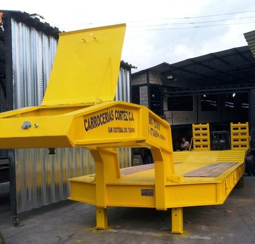 equipamientos lowboy cama plana de 80 toneladas