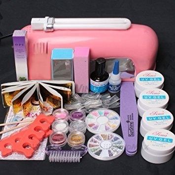 Equipo 22 En 1 Kit Completo Uñas Acrílicas Luz Ultravioleta