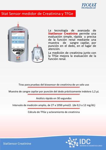 equipo analizador de creatinina