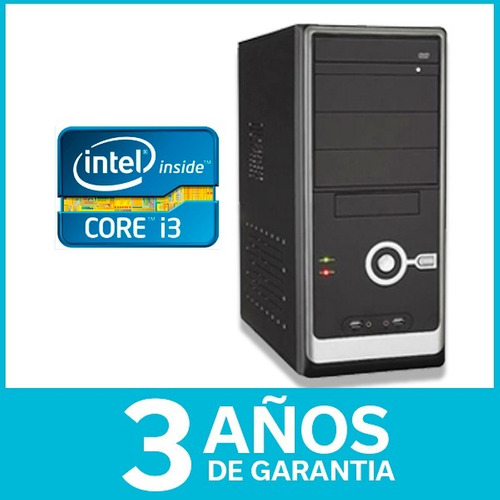 equipo armado pc intel core i3 4ta gen 16gb 750gb dvd 3 años