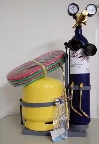 equipo autogena oxigas 1/2m3 refrigeracion soldar 2kg