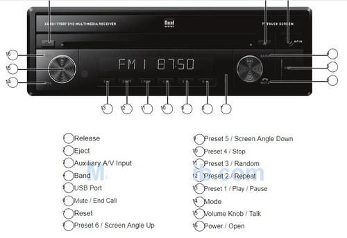 equipo carro dual motorizado bluetooth radio dvd pantalla 7