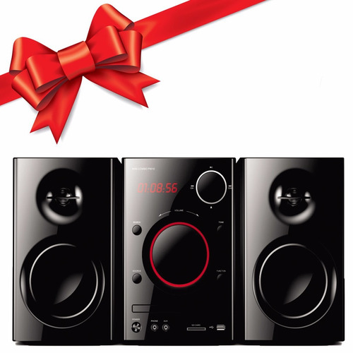 equipo d audio microcomponente telefunken dvd usb sd regalo!