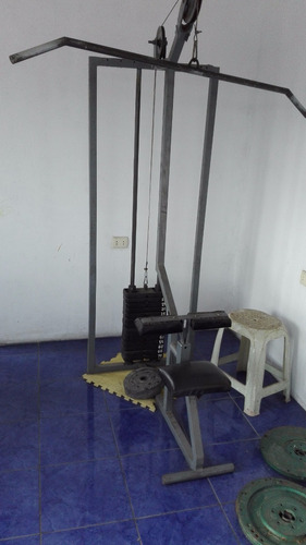 equipo de gimnasio completo ( 6 maquinas )
