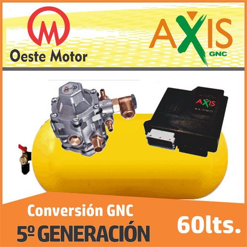 equipo de gnc 5° generación axis con cilindro de 60 lts.
