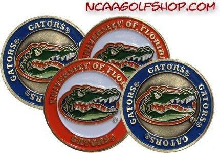 equipo de golf,(4) florida gators pelota de golf marcado..