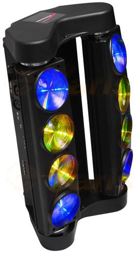 equipo de iluminación audiobahn spider con 8 mega leds rgb+w