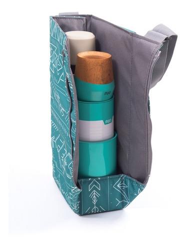 equipo de mate chilly | bolso matero + termo coleman 1.2 lt