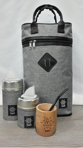 equipo de mate set matero   bolso + mate +yerbera +azucarera