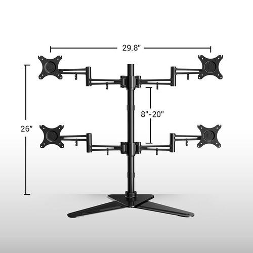 equipo de montaje para pantallas loctek full motion 10-27