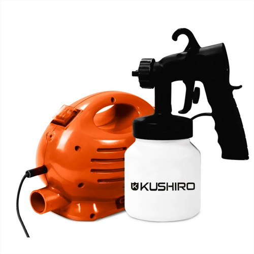 equipo de pintar kushiro 600w 800 ml 2 kg 15m² k001