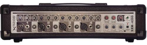 equipo de sonido cabezal + 2 bafles + microfono + cables