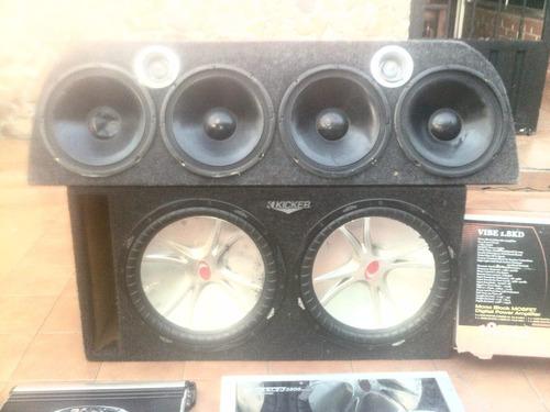 equipo de sonido completo alta performan para carros
