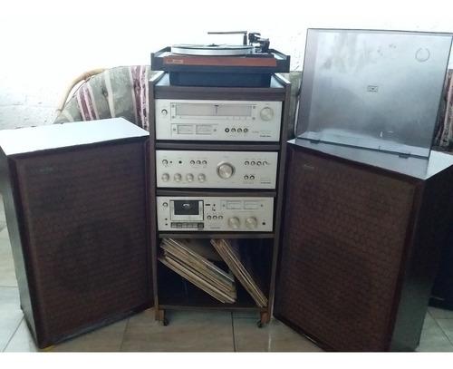 equipo de sonido completo, egualizador, planta,rocola,casett