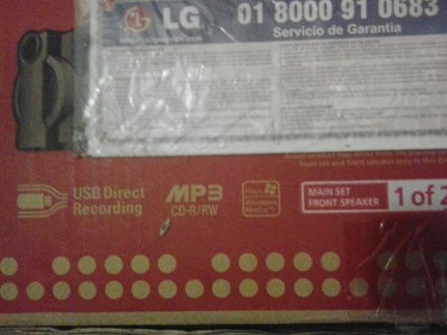 equipo de sonido lg 8.000 w. mct 703 nuevo costo 380 verdes