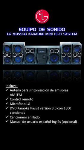 equipo de sonido lg mdv903 13000w hi-fi karaoke system