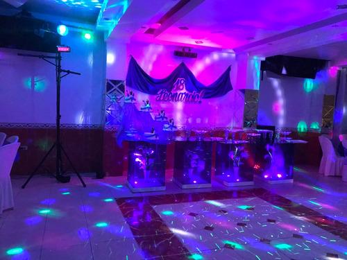 equipo de sonido, luces y dj