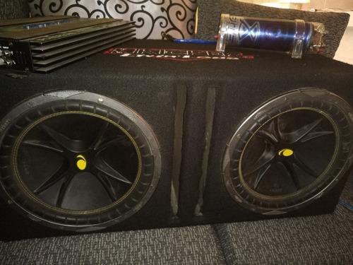 equipo de sonido para auto bocinas marca kiker