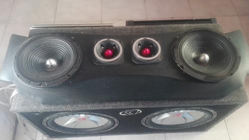 equipo de sonido para carro completo bajos plantas medios