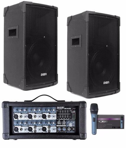 equipo de sonido profesional 6 canales bafles para vivo