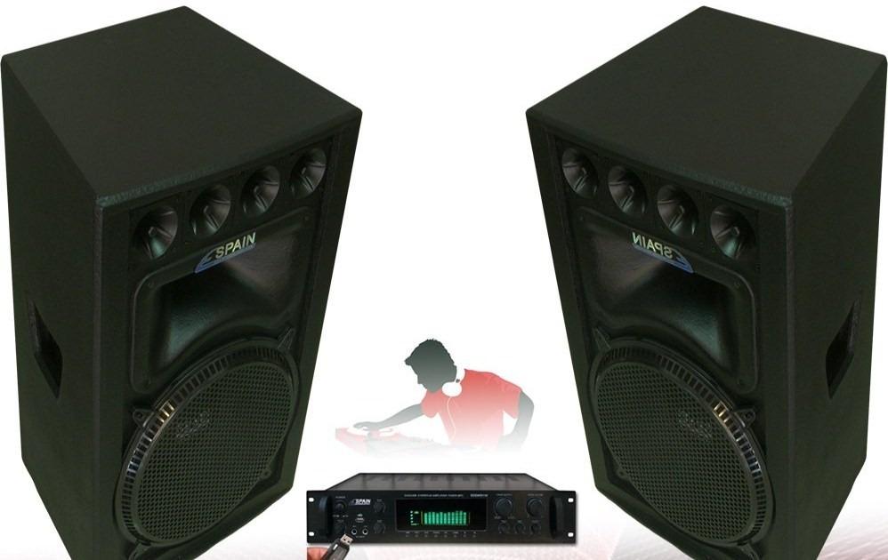 Foto Cabina Mercadolibre : Equipo de sonido profesional spain amplificador y cabinas