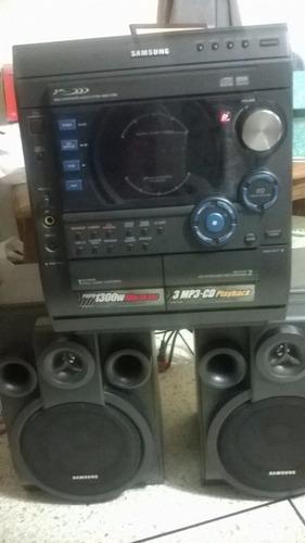 equipo de sonido samsung max-c550 mp3 cd cassette radio ipod