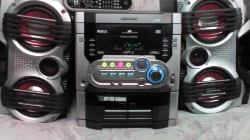 equipo de sonido usado control y antena