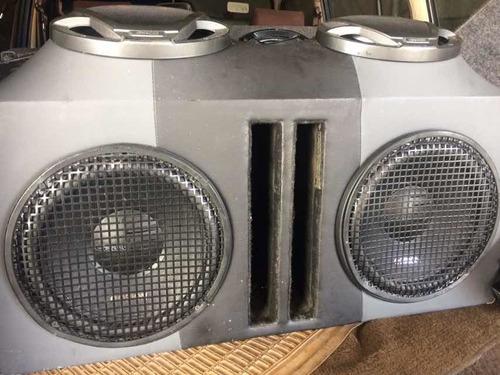 equipo de sonido y cajón , para carros y camionetas