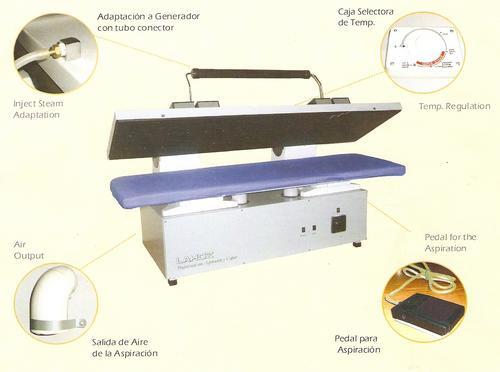equipo doble industrial tipo prensa con aspiración