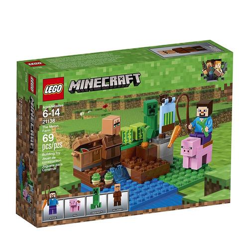 equipo edificio lego minecraft the melón granja 21138 (69 p