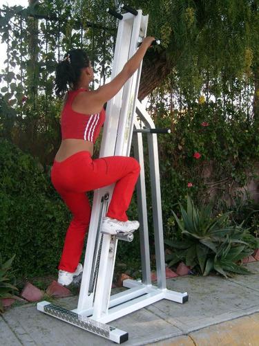 equipo escaladora, cardio, pierna, brazos ejercicio completo