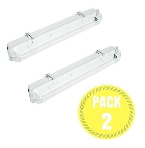 equipo estanco 1x9w + 2 tubo led 9w 60cm pack 2 /demasled