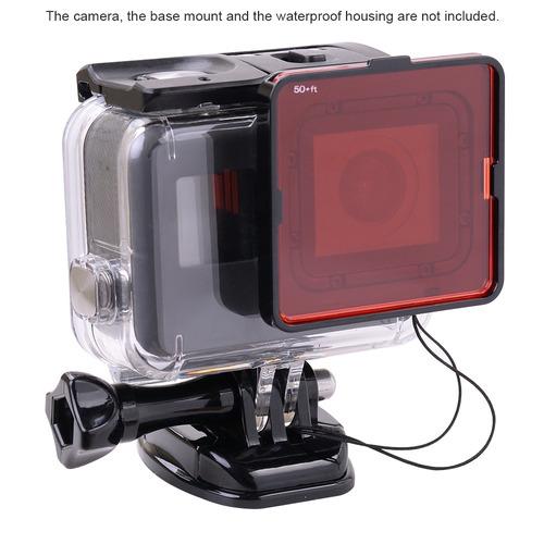 equipo filtro de lente buceo bajo el agua para cámara gopro