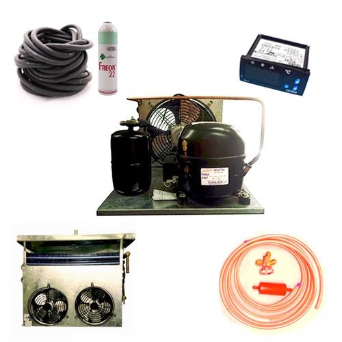 equipo frio + evaporador y acces 1 hp helad comerc 4 puertas