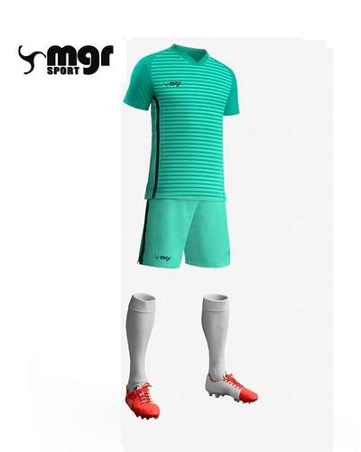 equipo fútbol masculino camiseta short medias - mgr sport