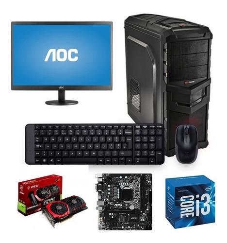 equipo gamer i3 7100  tarjeta gtx 1060 msi gaming