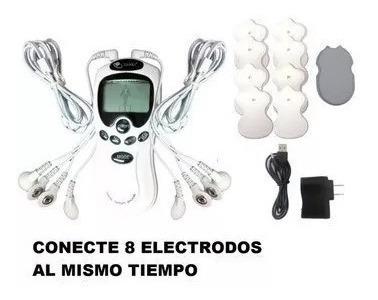 equipo gimansia masajeador terapia pasiva digital 8 electrod