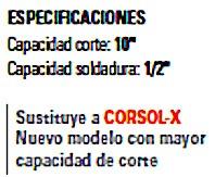 equipo industrial soldadura oxiacetileno corte hasta 10 inch