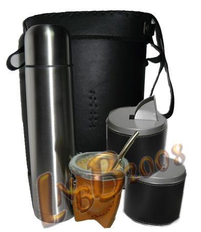 equipo matero bolso / termo1lt. acero/ mate /bomb/ yerbera