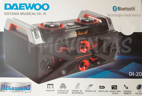 equipo musica daewoo audio usb bluetooth radio led mix dj 50