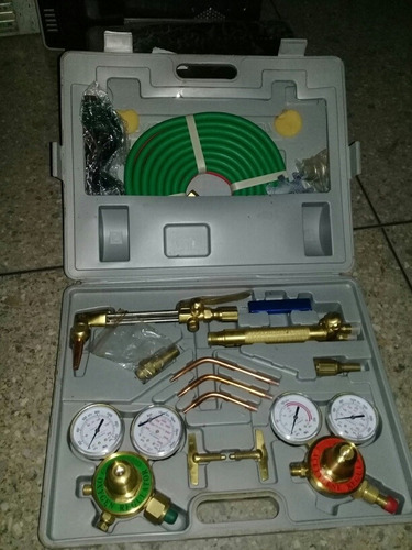 equipo oxicorte soplete acetileno oxigeno