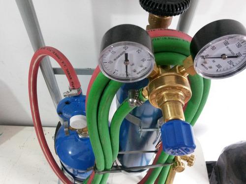equipo oxigas soldadora autogena 1/2m3 refrigeracion +regalo