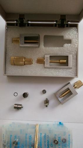 equipo para cambiar rodajes, chuck, ejes de rotores dentales