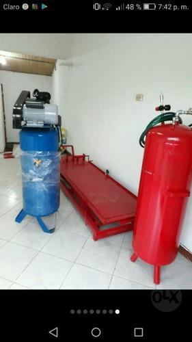 equipo para lavadero  o taller  de motos rampla