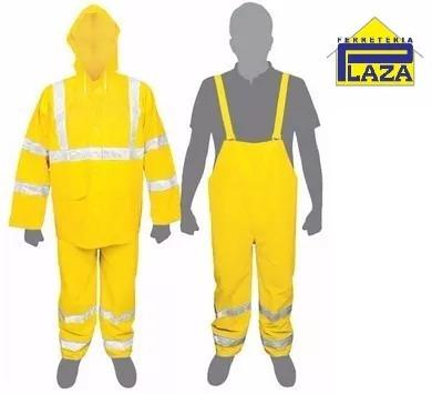 equipo para lluvia pilot pantalón truper con reflectivo