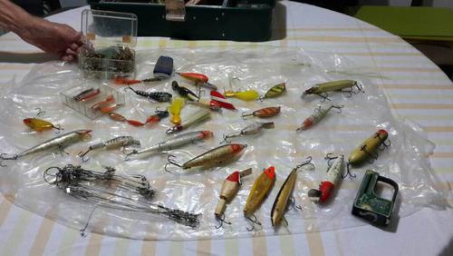 equipo pesca completo cañas, anzuelos, otros