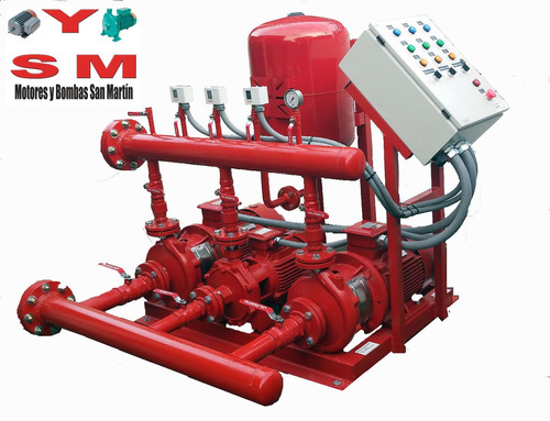 equipo presurizador para red de incendio 48m3/h a 60 mca