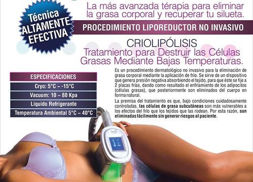 equipo profesional de criolipolisis tratamiento reductor