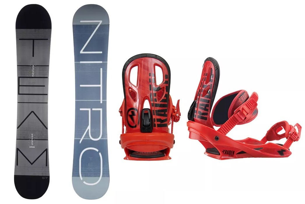 6a17e69543 Equipo Snowboard All Mountain // Nitro Team + Fijaciones - $ 16.395 ...