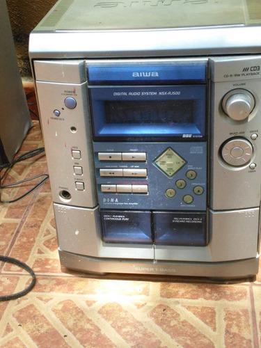 equipo sonido aiwa digital  usado repuestos cornetas